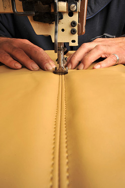 Leather furniture making