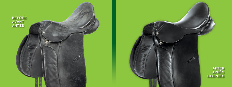 Urad's line of leather care products for tack and leather saddles