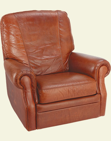 Leather Lazyboy chair after conditioning with Urad and Tenderly